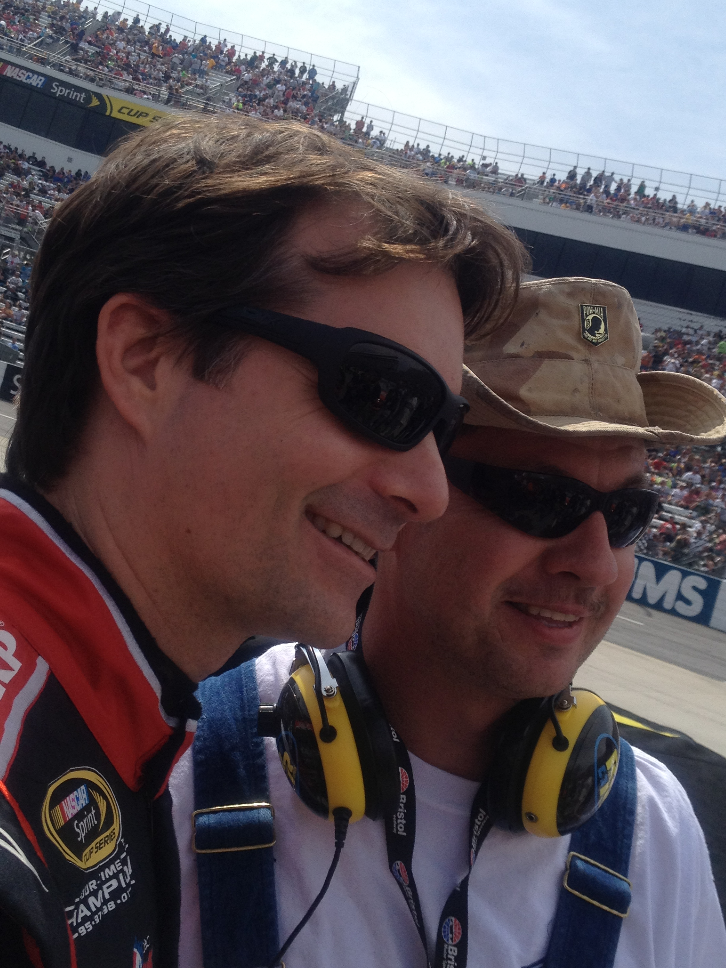 Tim meets Jeff Gordon