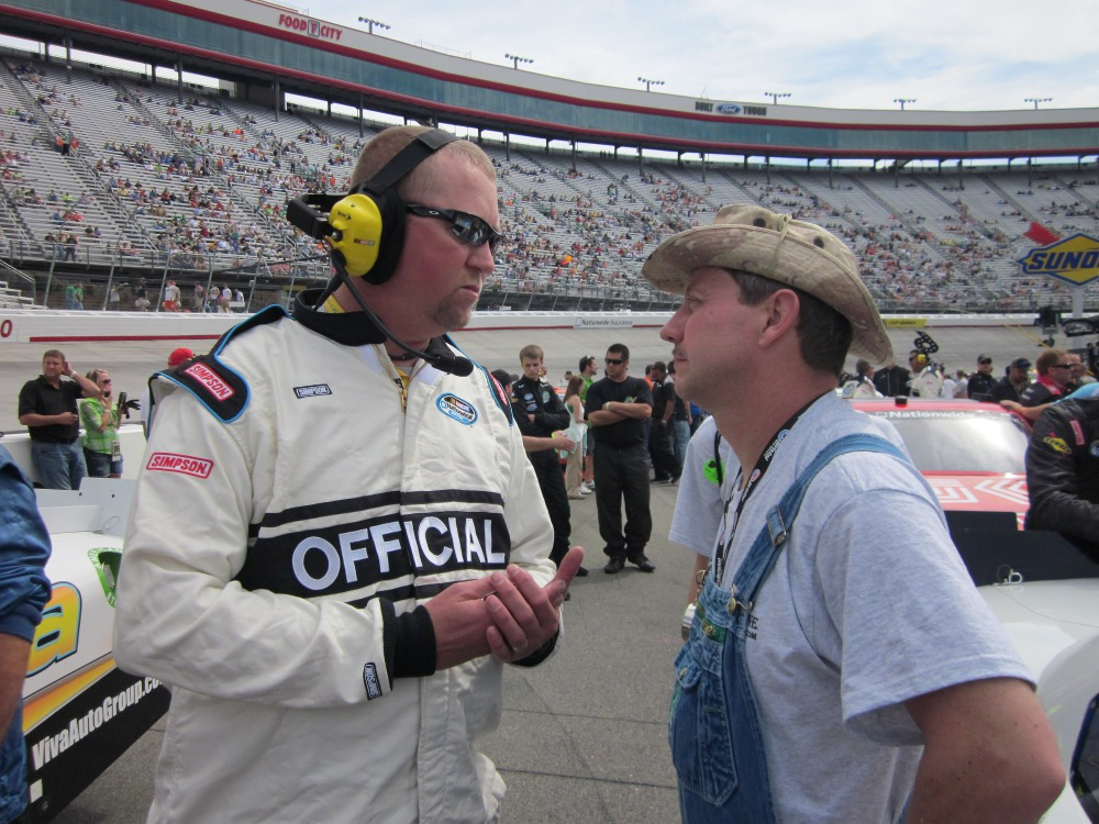 Tim meets NASCAR Official